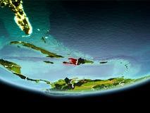Αϊτή στο κόκκινο το βράδυ διανυσματική απεικόνιση