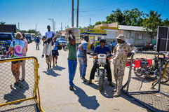 Αϊτινά σύνορα Στοκ Εικόνες