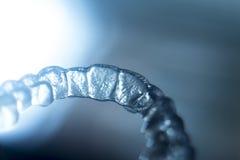 Αόρατα orthodontics υποστηρίγματα στοκ φωτογραφίες με δικαίωμα ελεύθερης χρήσης