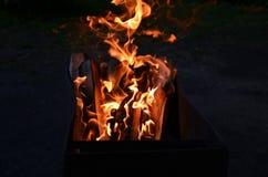 Αύγουστος είναι στην πυρκαγιά Στοκ Φωτογραφίες