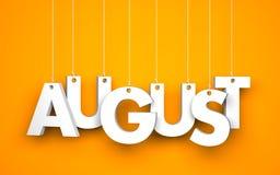 Αύγουστος - τρισδιάστατη λέξη διανυσματική απεικόνιση