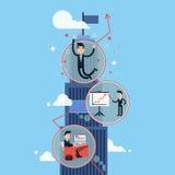 Αύξηση σταδιοδρομίας - επιτυχής επιχειρηματίας ελεύθερη απεικόνιση δικαιώματος