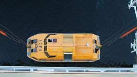 Αύξηση της βάρκας αποταμίευσης του σκάφους της γραμμής κρουαζιέρας Geiranger, Stranda, Νορβηγία φιλμ μικρού μήκους