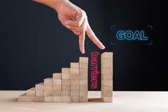 Αύξηση της λύσης επιχειρήσεων και χρήσης στην έννοια στόχου Στοκ Εικόνες
