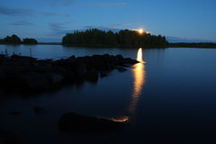 αύξηση φεγγαριών Στοκ Εικόνες