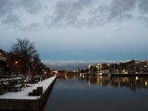 Αύρα ποταμών στο Τουρκού Φινλανδία, Σκανδιναβία, Ευρώπη Στοκ Φωτογραφία