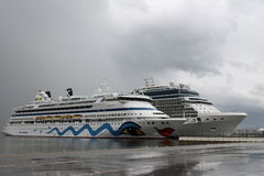 Αύρα της Aida κρουαζιερόπλοιων Στοκ Εικόνες