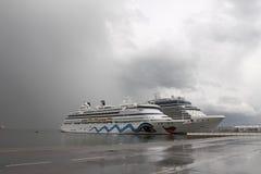 Αύρα της Aida κρουαζιερόπλοιων Στοκ φωτογραφίες με δικαίωμα ελεύθερης χρήσης