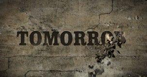 Αύριο ζωτικότητα FX παραθυρόφυλλων κειμένων διανυσματική απεικόνιση