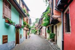 Αλέα σε μια μεσαιωνική πόλη Στοκ εικόνα με δικαίωμα ελεύθερης χρήσης