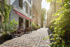 Αλέα σε Spittelberg, παλαιά πόλη, Βιέννη, Αυστρία Στοκ Φωτογραφία
