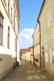 Αλέα σε Telc, Δημοκρατία της Τσεχίας Στοκ εικόνα με δικαίωμα ελεύθερης χρήσης