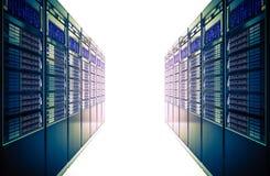 Αλέα δωματίων κεντρικών υπολογιστών τρισδιάστατη Στοκ εικόνα με δικαίωμα ελεύθερης χρήσης