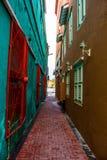Αλέα Colorfull Στοκ εικόνα με δικαίωμα ελεύθερης χρήσης