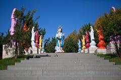 Αλέα Gaya στο βιετναμέζικο μοναστήρι Στοκ εικόνα με δικαίωμα ελεύθερης χρήσης