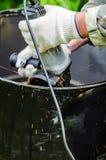Αλέθοντας μηχανή μετάλλων Στοκ Εικόνα