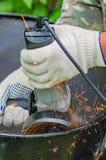 Αλέθοντας μηχανή μετάλλων Στοκ Φωτογραφία