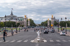 Αλέξανδρος ΙΙΙ γέφυρα Παρίσι Γαλλία Στοκ εικόνα με δικαίωμα ελεύθερης χρήσης