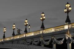 Αλέξανδρος ΙΙΙ γέφυρα, Παρίσι Στοκ Εικόνες