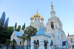 Αλέξανδρος Nevsky Cathedral σε Yalta, Ουκρανία Στοκ εικόνες με δικαίωμα ελεύθερης χρήσης