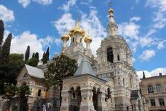 Αλέξανδρος Nevsky Cathedral σε Yalta, Ουκρανία Στοκ Εικόνα