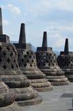 9α αγάλματα αιώνα σε Borobudur Στοκ Εικόνα