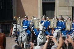 Αλλαγή της Στοκχόλμης των βασιλικών φρουρών Στοκ φωτογραφία με δικαίωμα ελεύθερης χρήσης