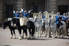 Αλλαγή της Στοκχόλμης των φρουρών Στοκ Εικόνες