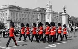 Αλλαγή της φρουράς, Λονδίνο, Αγγλία στοκ φωτογραφία με δικαίωμα ελεύθερης χρήσης