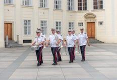 Αλλαγή της φρουράς Πράγα - τσέχικα Στοκ Εικόνες