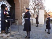Αλλαγή της φρουράς των φρουρών τιμής στο προεδρικό παλάτι Στοκ Εικόνα