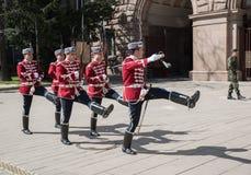 Αλλαγή των φρουρών στο γραφείο του Προέδρου της Βουλγαρίας Στοκ Εικόνα
