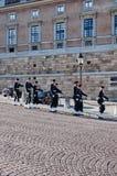 Αλλαγή φρουράς, παλάτι της Στοκχόλμης Στοκ Εικόνες