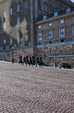 Αλλαγή φρουράς, παλάτι της Στοκχόλμης Στοκ φωτογραφίες με δικαίωμα ελεύθερης χρήσης