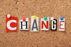 Αλλαγή Στοκ Εικόνες