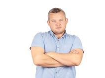 Αλαζονικός επιχειρηματίας ατόμων σε ένα πουκάμισο με suspenders Στοκ φωτογραφία με δικαίωμα ελεύθερης χρήσης