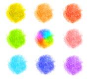 Αλατισμένα διαφορετικά χρώματα λουτρών SPA που απομονώνονται Στοκ Φωτογραφίες