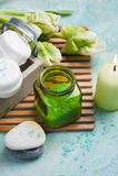 Αλατισμένα και καλλυντικά προϊόντα λουτρών Στοκ εικόνα με δικαίωμα ελεύθερης χρήσης