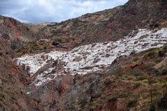 Αλατισμένα ορυχεία Maras στοκ εικόνες με δικαίωμα ελεύθερης χρήσης