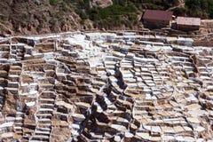 Αλατισμένες λίμνες Maras, Περού στοκ εικόνες