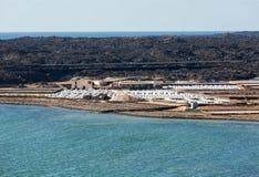 Αλατισμένες εργασίες Janubio, Lanzarote Στοκ φωτογραφίες με δικαίωμα ελεύθερης χρήσης