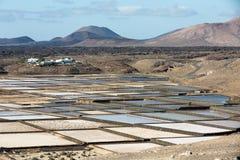 Αλατισμένες εργασίες Janubio, Lanzarote Στοκ Φωτογραφίες