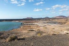 Αλατισμένες εργασίες Janubio, Lanzarote, Στοκ φωτογραφίες με δικαίωμα ελεύθερης χρήσης