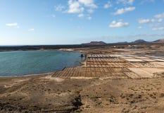 Αλατισμένες εργασίες Janubio, Lanzarote, Στοκ Εικόνα