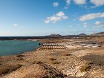 Αλατισμένες εργασίες Janubio, Lanzarote, Στοκ Εικόνες