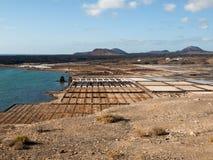 Αλατισμένες εργασίες Janubio, Lanzarote Στοκ φωτογραφία με δικαίωμα ελεύθερης χρήσης