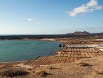 Αλατισμένες εργασίες Janubio, Lanzarote, Στοκ φωτογραφία με δικαίωμα ελεύθερης χρήσης