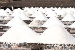 Αλατισμένες εργασίες Salinas de Janubio σε Lanzarote Στοκ Εικόνες