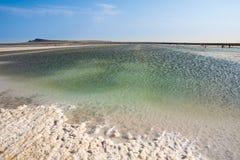 Αλατισμένη λίμνη στοκ εικόνες