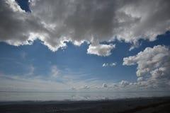 Αλατισμένη λίμνη Elton και αντανάκλαση Στοκ φωτογραφίες με δικαίωμα ελεύθερης χρήσης